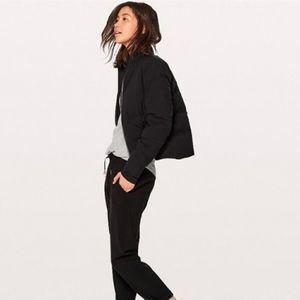 Lululemon Slush Hour Jacket Black 10 Stretch Down